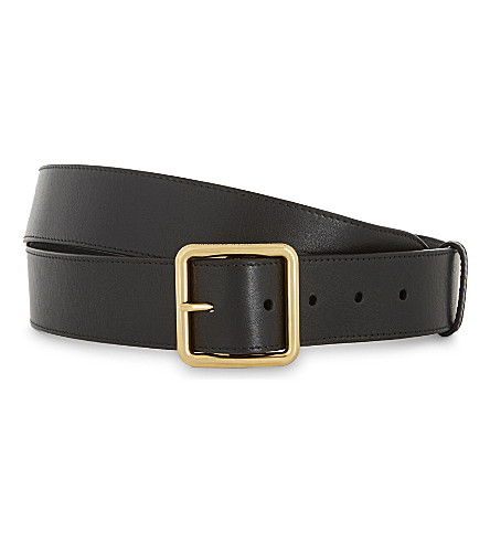 ALEXANDER MCQUEEN Leather belt (Black+gold