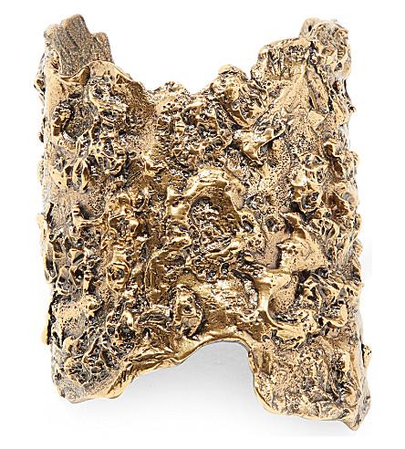 ALEXANDER MCQUEEN Molten brass cuff bracelet (0448+-+0448+gold
