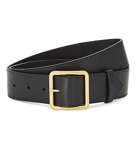 ALEXANDER MCQUEEN Leather belt (Black