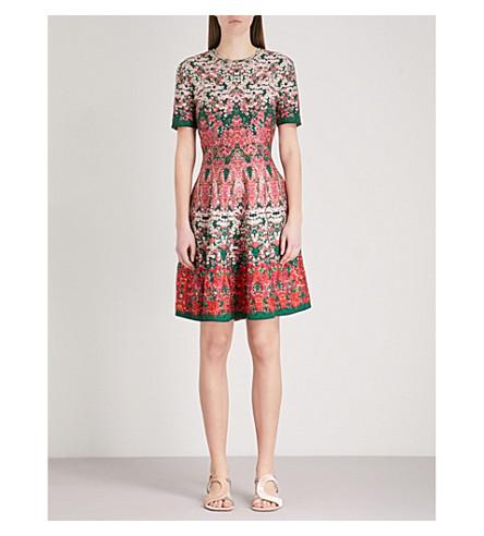 ALEXANDER MCQUEEN Floral silk-blend jacquard mini dress (Multicolor