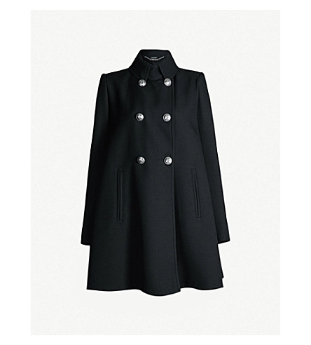 ALEXANDER MCQUEEN Double-breasted wool-blend coat (Black