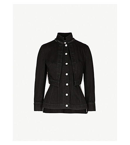 ALEXANDER MCQUEEN Military denim jacket (Black
