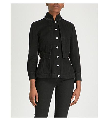 ALEXANDER MCQUEEN Military denim jacket (Black
