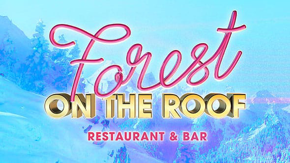 Forest restaurant on the roof