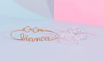 Personalised silver bracelet