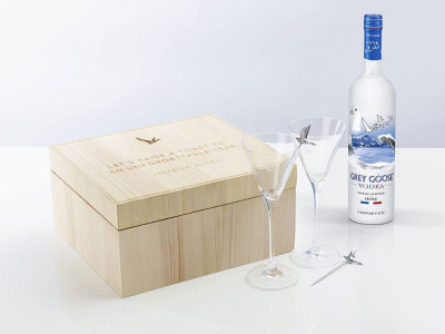 Personalised cocktail gift box