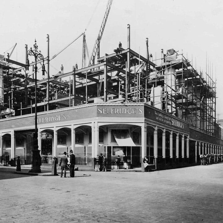 38899cf825734 Selfridges under construction pre-1909