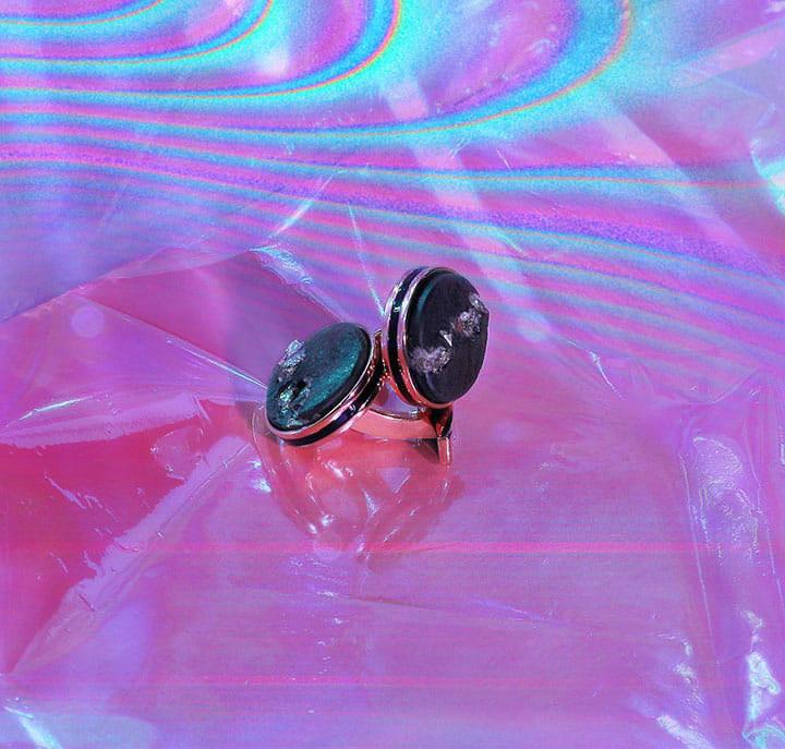 TATEOSSIAN diamond dust cufflinks