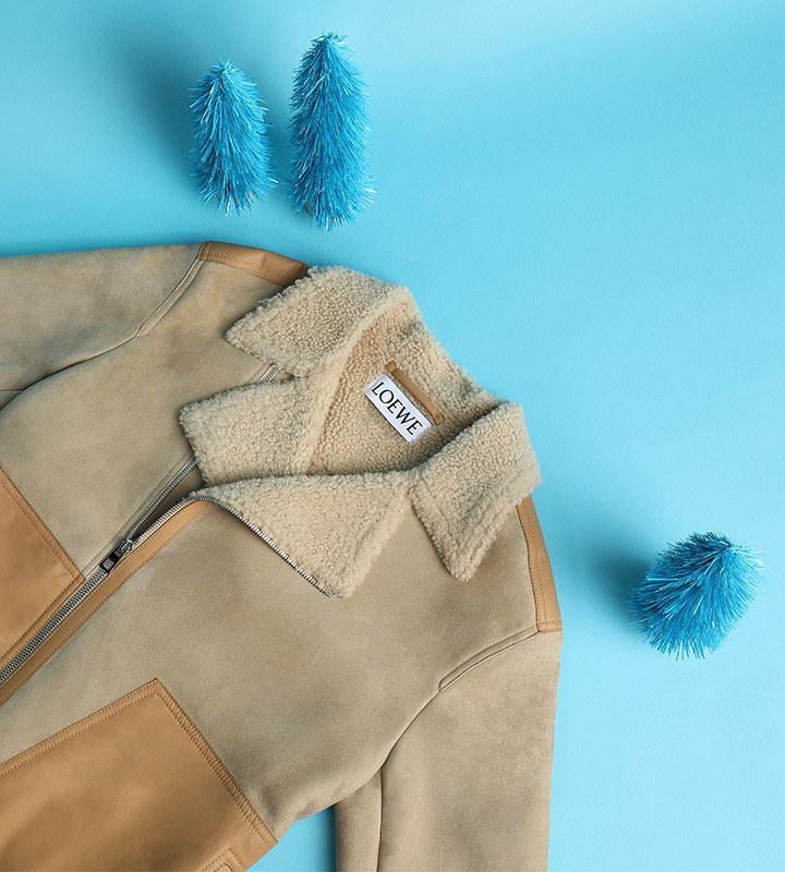 LOEWE suede and shearling jacket