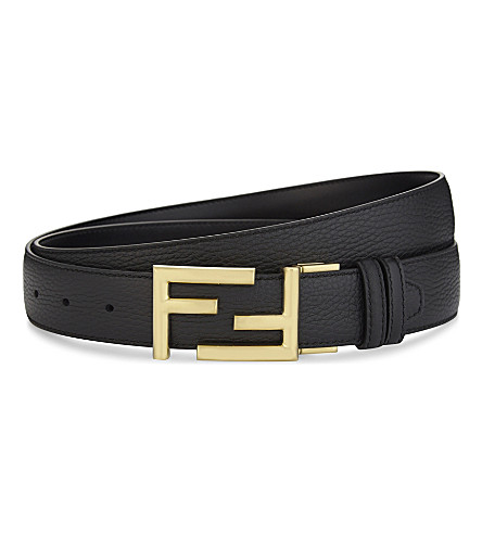 FENDI Reversible leather belt (Black