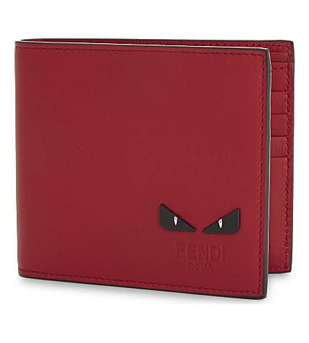 FENDI Monster leather wallet (Red