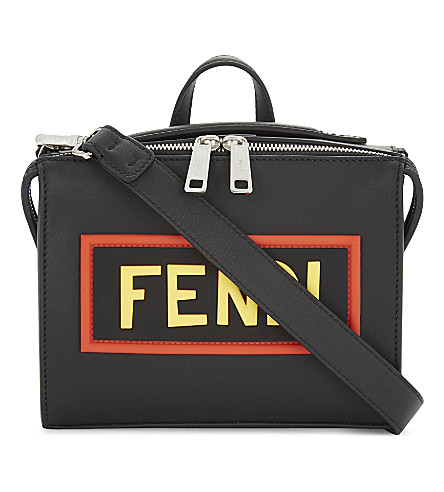 FENDI Mini Louis word leather shoulder bag (Black
