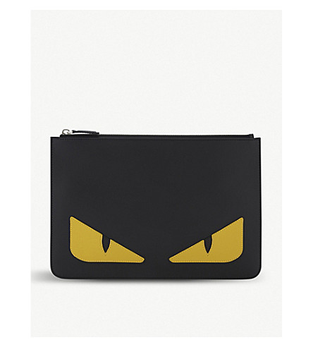 FENDI Fendi mens monster pouch (Black