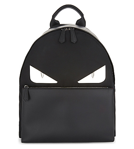 FENDI Monster backpack (Black/white