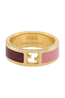 FENDI Thin bi-colour ring