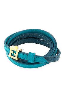 FENDI Double wrap leather bracelet