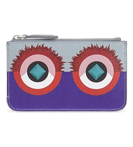FENDI Fendi monster coin pouch (Grey purple