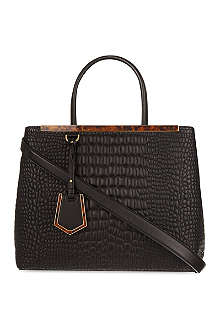 FENDI 2jour quilted pebble leather tote