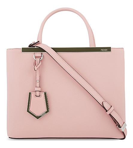 FENDI Petite 2jours leather tote (Pink