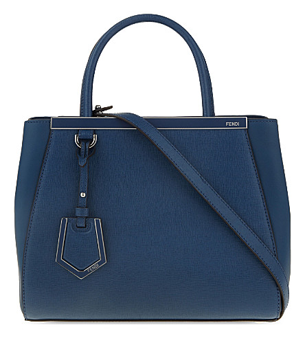 FENDI Mini 2jour leather tote (Blue
