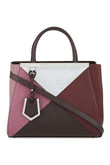 FENDI 2jour mini leather four-colour tote