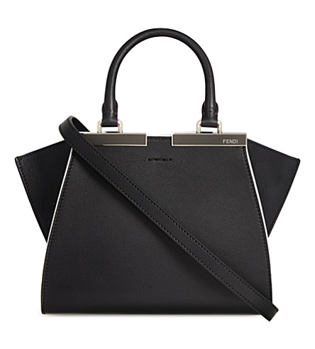 FENDI Mini 3jours leather tote (Black