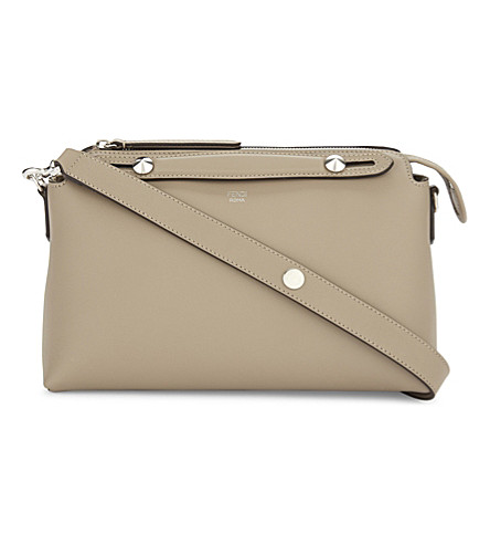 FENDI By The Way small leather tote (Beige+grey