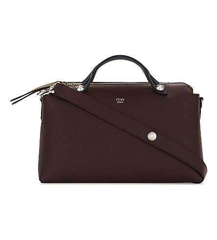 FENDI By The Way bicolour small leather shoulder bag (Burgundy