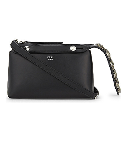 FENDI By The Way Boston mini leather cross-body bag (Black
