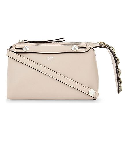 FENDI By The Way Boston mini leather cross-body bag (Light pink