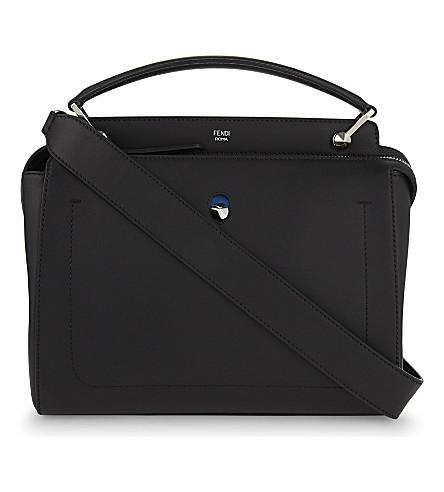 FENDI Dotcom leather shoulder bag (Black