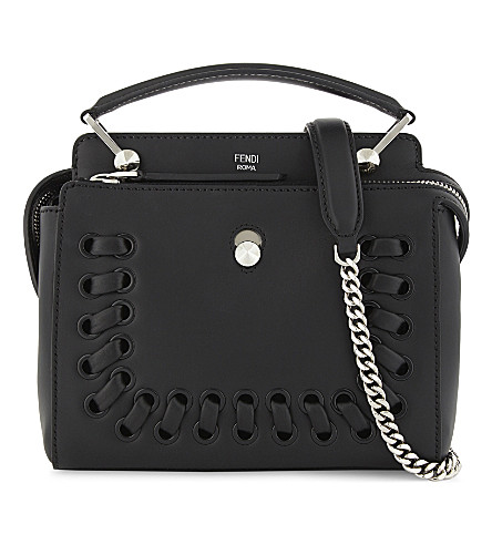 FENDI Dotcom leather cross-body bag (Black