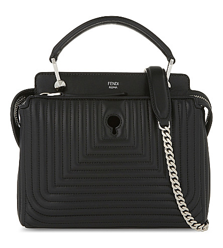 FENDI Dotcom quilted leather cross-body (Black