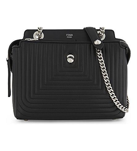 FENDI Small Dotcom Click leather shoulder bag (Black