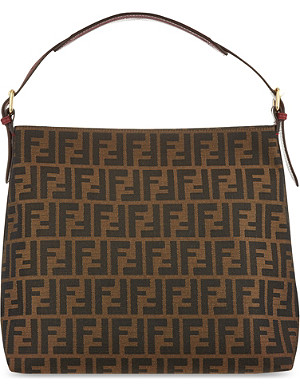FENDI Zucca small hobo bag