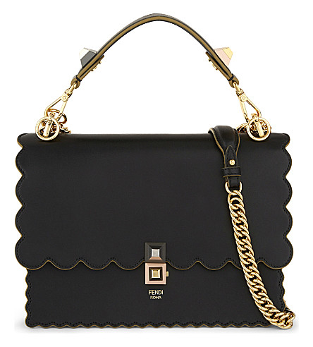 FENDI Kan I leather cross-body bag (Black