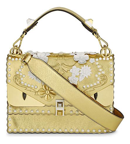 FENDI Kani I Special metallic leather shoulder bag (Gold