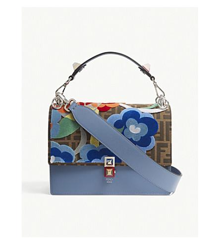 FENDI Kan I medium floral cross-body bag (Blue