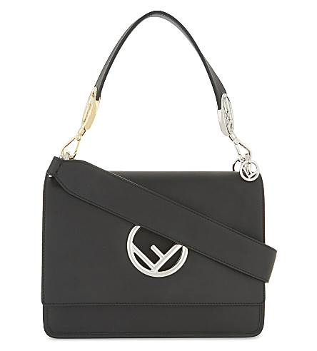 FENDI Medium Kan I leather shoulder bag (Black