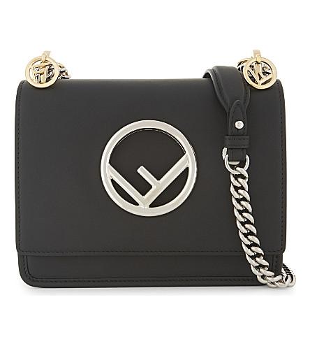 FENDI Small Kan I leather cross-body bag (Black