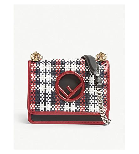 FENDI Fendi Kan I small leather cross-body bag (Multi+col