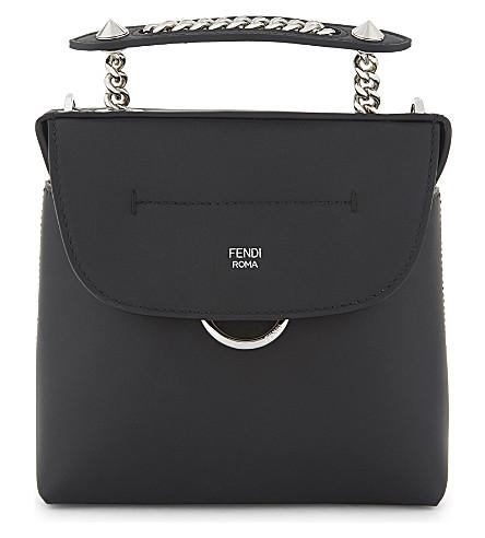 FENDI Back To School small leather shoulder bag (Black
