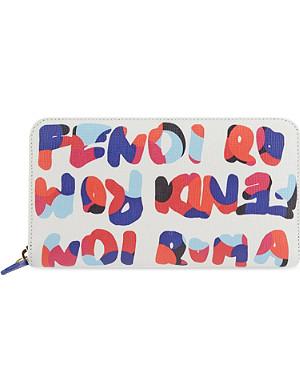 FENDI Roma print purse