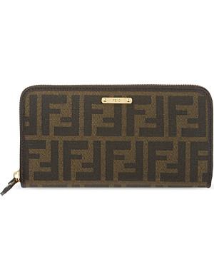 FENDI Zucca ziparound wallet