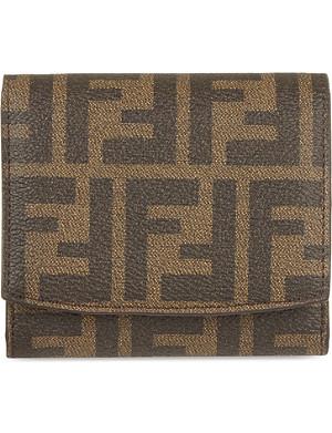 FENDI Zucca French trim purse