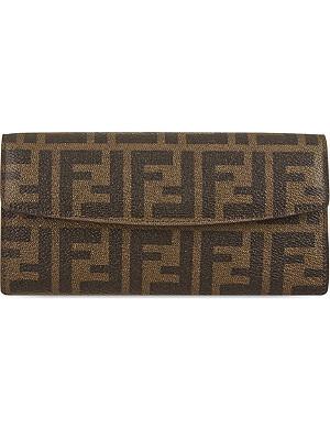 FENDI Zucca fold-over purse