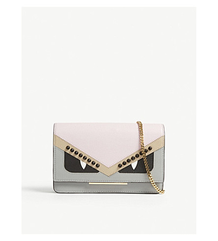 FENDI Monster leather cross-body bag (Pink