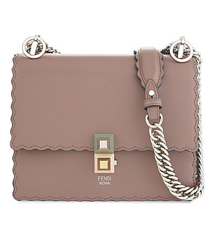 FENDI Kan I small leather shoulder bag (Pink