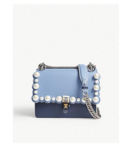 ... shop fendi kan 1 pearl embellished leather shoulder bag selfridges  b6804 01c73 ... 90c897c49bc92