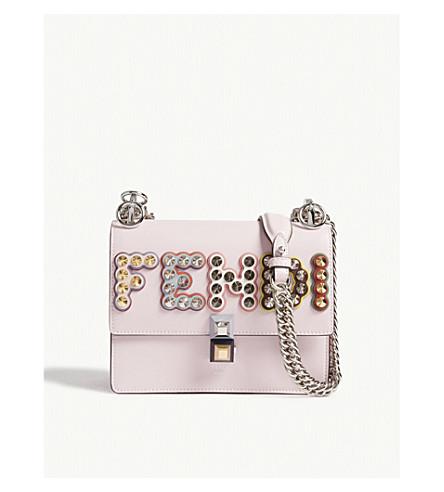FENDI Kan I logo leather shoulder bag (Pink